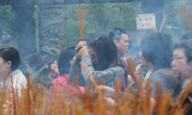 Hong-Kong : cérémonie dans un temple shintoïste / 02-Photographie Muriel Marchais, 2016.