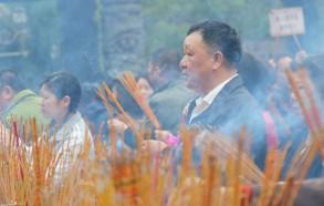 Hong-Kong : cérémonie dans un temple shintoïste / 01-Photographie Muriel Marchais, 2016.