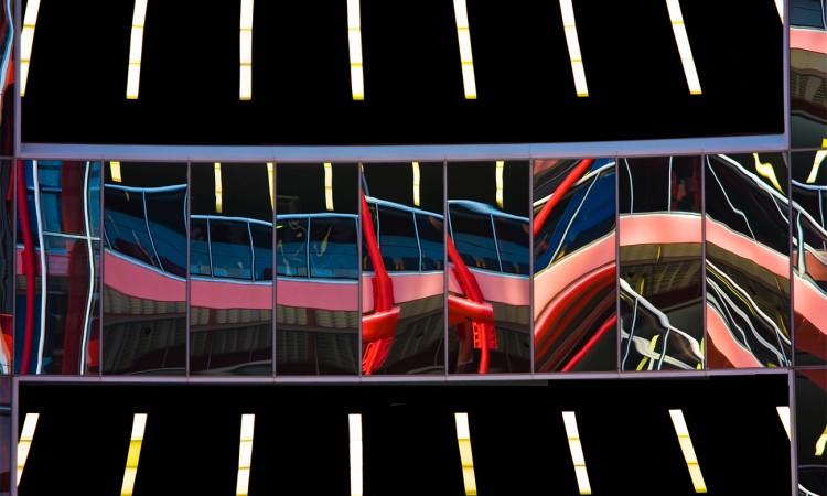 Déformation - USA-Chicago-05-Photographie abstraite, par Muriel Marchais